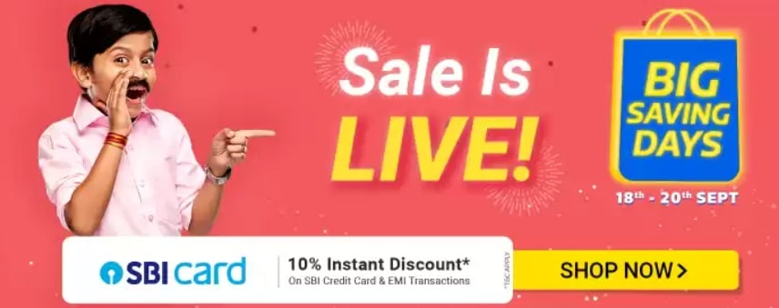 Flipkart Big Saving Days Sep 2020