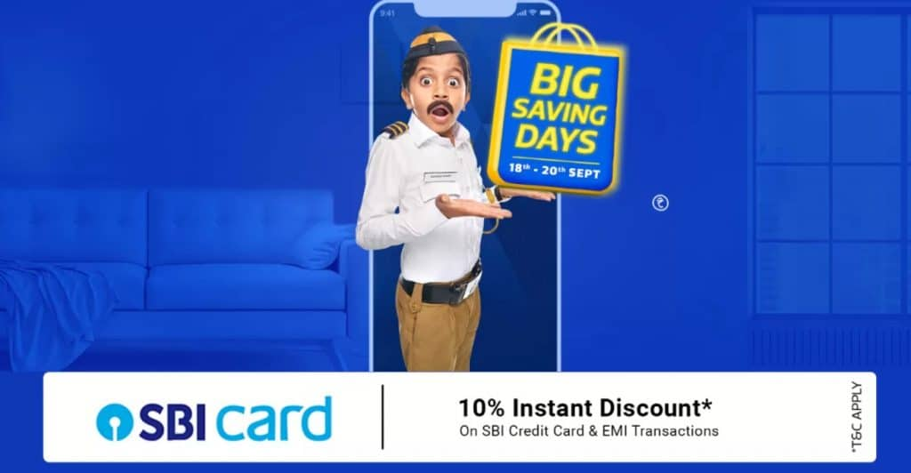 Flipkart big saving days sale september 2020