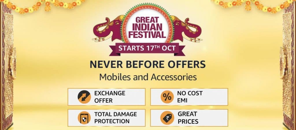Amazon Great Indian Festival Sale Mobile Offers Oct 2020