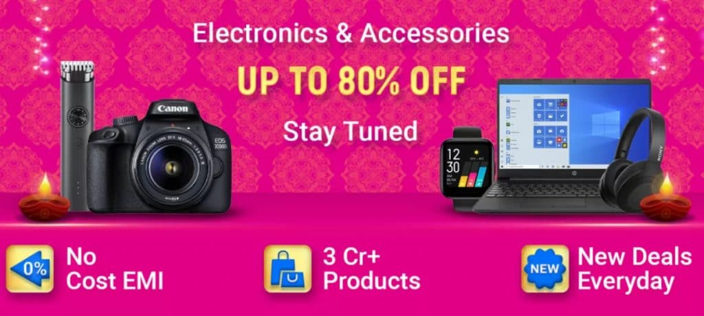 Flipkart Diwali Sale Offers on Electronics