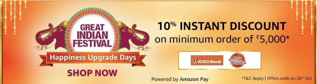 Amazon ICICI Offer Oct - Nov 2020