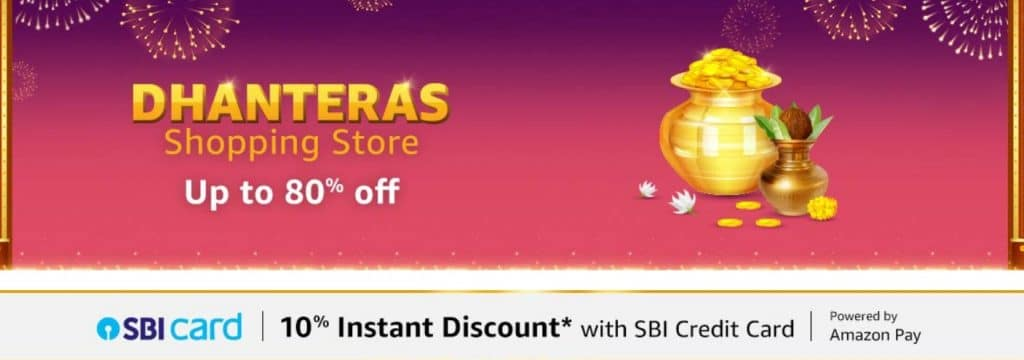 Amazon Dhanteras Sale Offer 2021