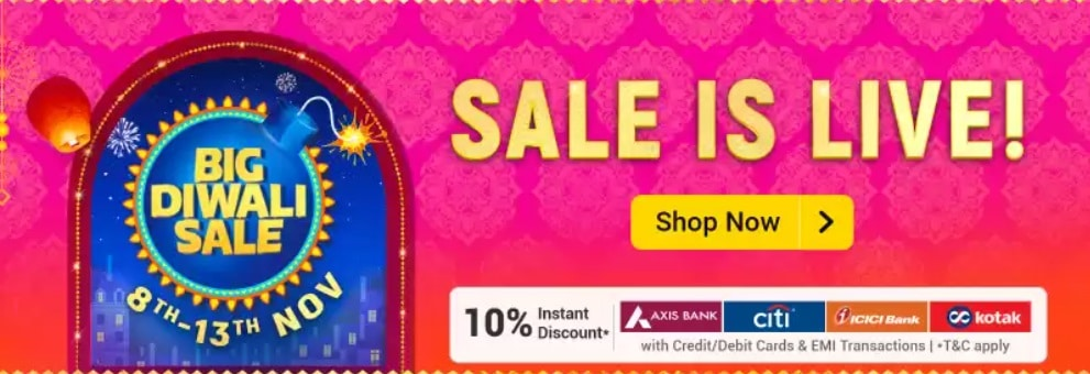 The Flipkart Diwali Sale Offers
