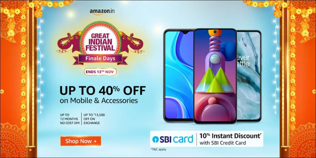 Amazon Diwali Sale 2020 Offers on Mobiles