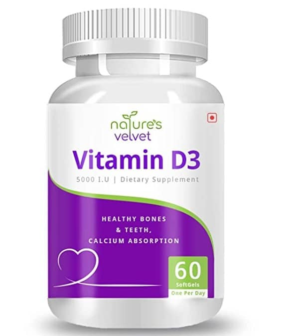 Natures Velvet Lifecare Vitamin D3 Supplement