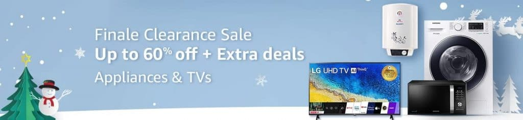 Amazon New Year Offers on TVs & Appliances
