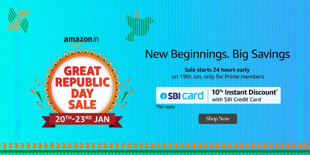 Amazon Great Republic Day Sale Offers