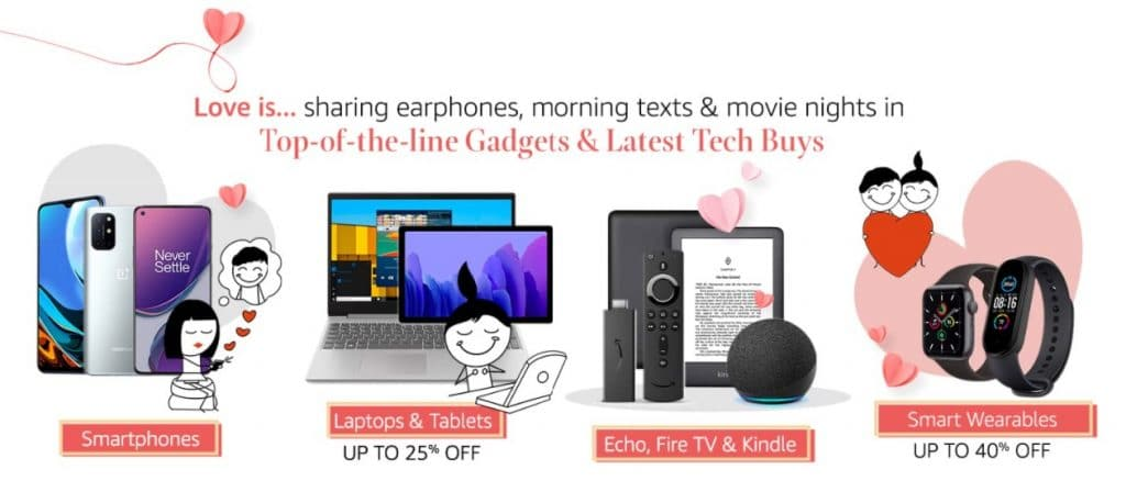 Amazon Valentines Day Offers on Electronics