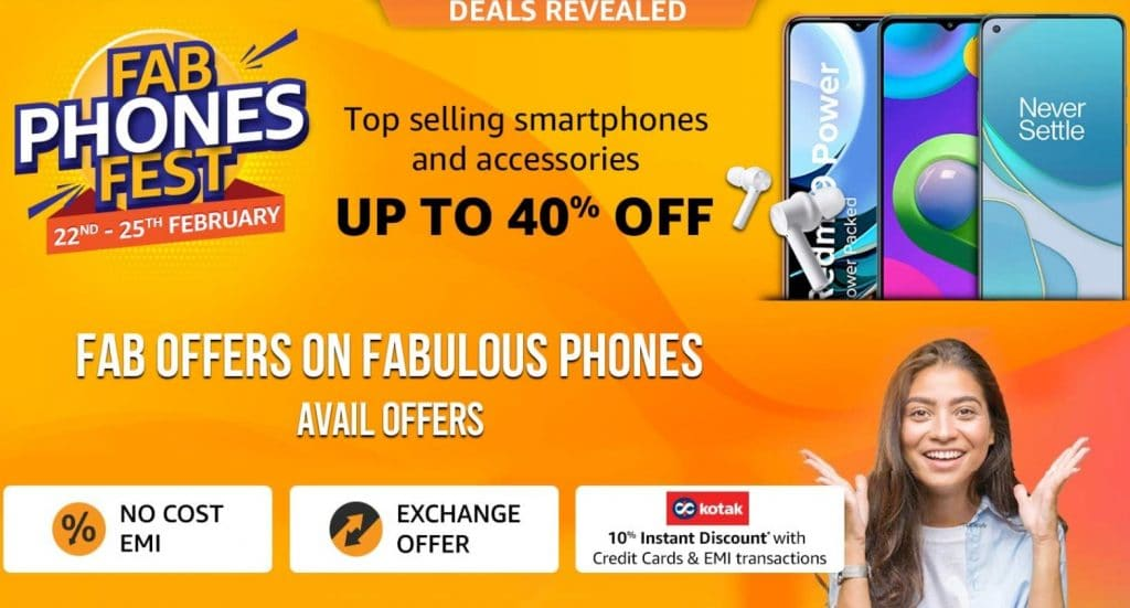 Amazon Fab Phones Fest Offers 2021