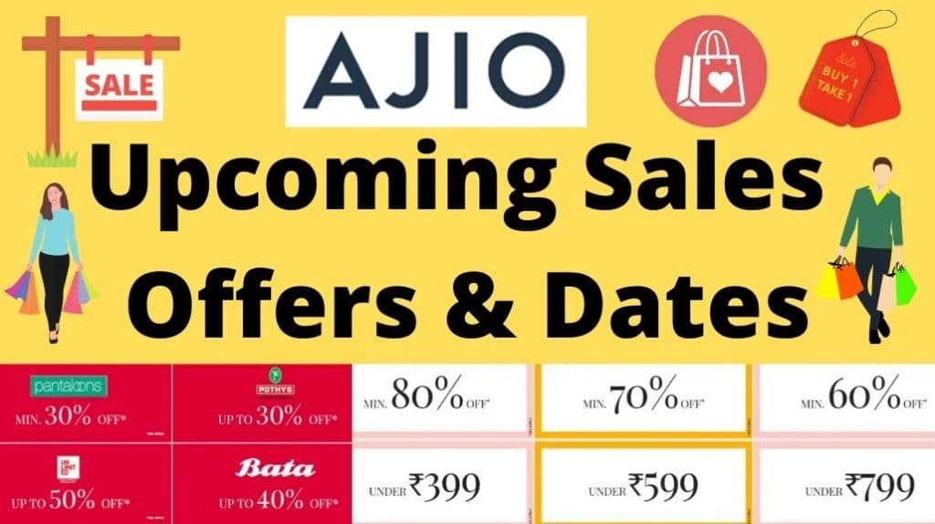 Ajio Upcoming Sale Offers and Dates