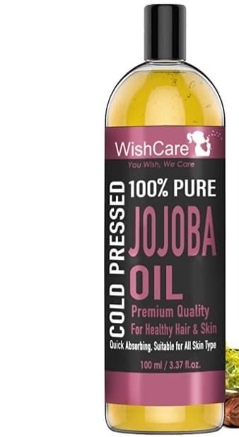 WishCare Pure Cold Pressed Natural Unrefined Jojoba Oil