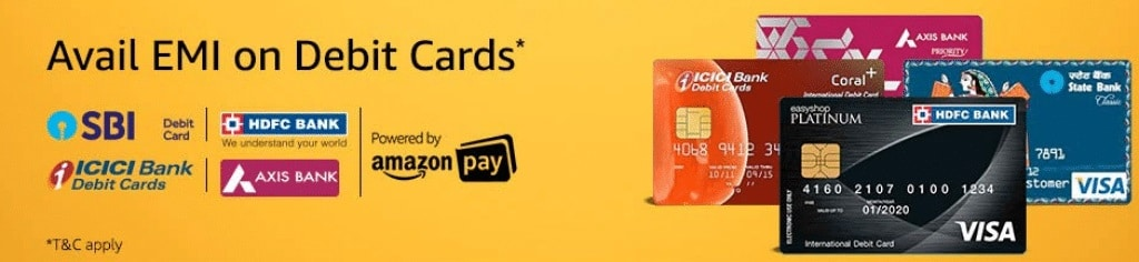 Debit Card EMI Offer on Amazon India