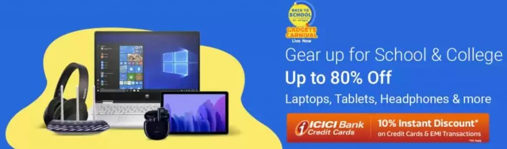 Flipkart Back to College Sale April 2021