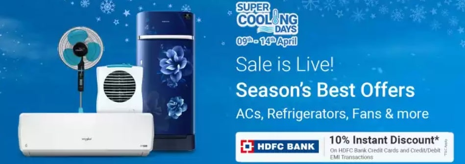 Flipkart Cooling Days Sale April 2021