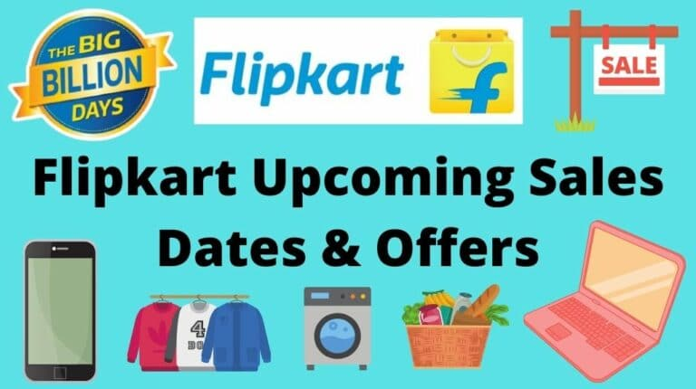 Flipkart Upcoming Sale Offers and Dates