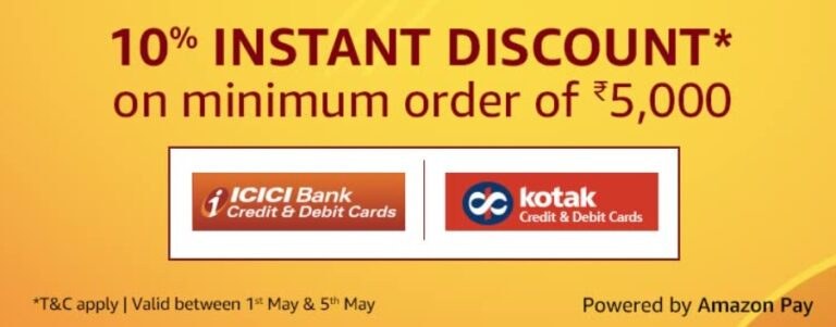 Amazon ICICI and Kotak Offer May 2021