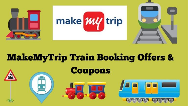 MakeMyTrip Train Ticket booking offers and coupons