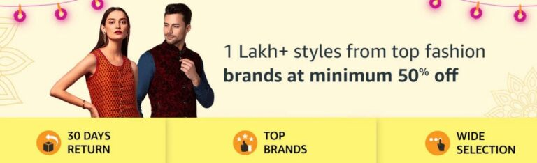 Amazon Diwali Offers on Fashion Products