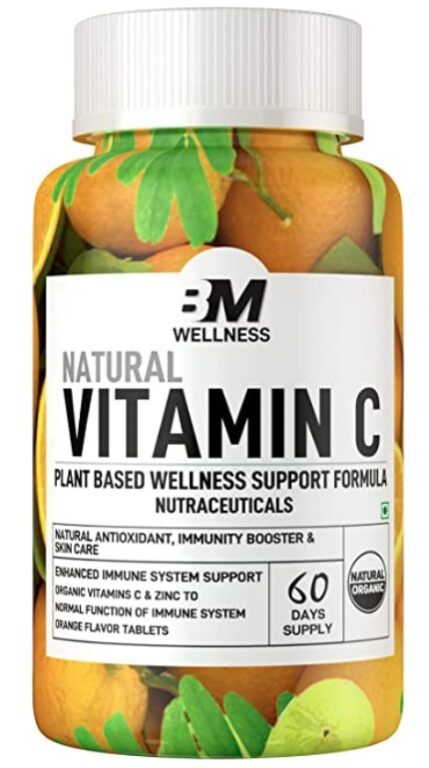 Bigmuscles Nutrition Natural Vitamin C and Zinc Tablets,