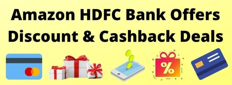 Amazon HDFC Bank Offers & Deals
